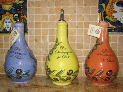 Custom Made Carafes from Deruta Umbria